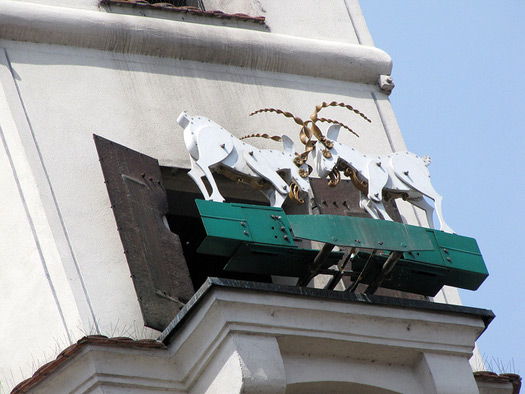 The head-butting goats of the Old City, Poznan, Poland. Photo: Christopher John SSF
