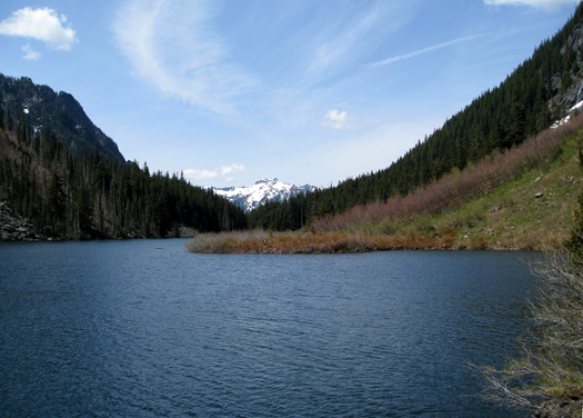Looking west on Goat Lake. Photo: J Brew