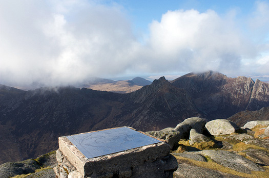 The view from the top of Goat Fell, Isle of Arran. Photo: ㇹヮィㇳ