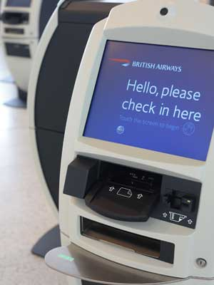 Fast check-in ... good news for British Airways passengers