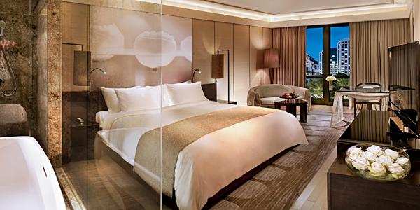 Inside a room at Kempinski Hotel Bangkok