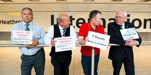 Heathrow and Tony Parsons to make literary history