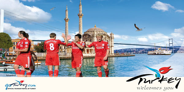 Turkey ... new partnership with Liverpool Football Club