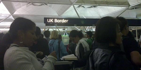 Border control ... expect queues