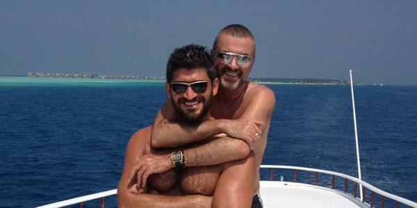 George Michael and Fadi Fawaz on hols