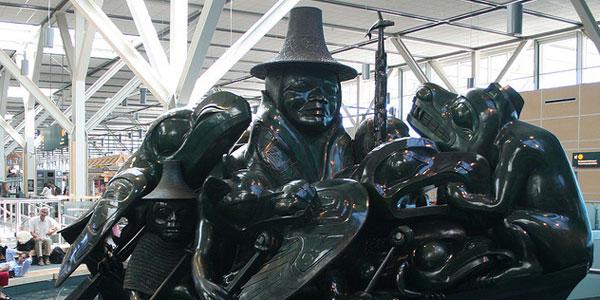 Bill Reid's Jade Canoe at Vancouver Airport