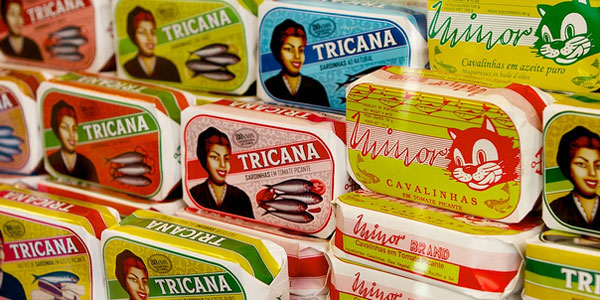 Sardines on sale in Portuguese supermarket