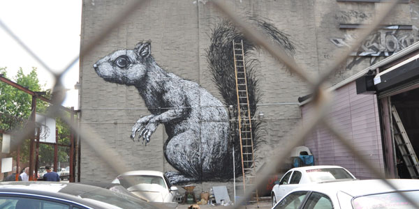 Trademark rodent by renowned street artist Roa