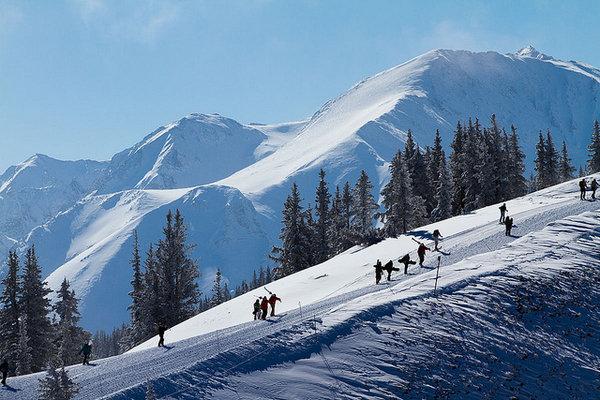 Luxury skiing... Aspen