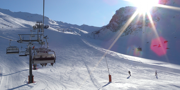 The sun hasn't set on the season yet … Tignes, France