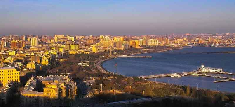 Sunbathed Baku ... the capital of Azerbaijan gets ready for Eurovision