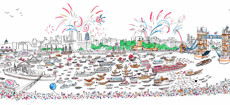 Thames Pageant by Josh Knowles