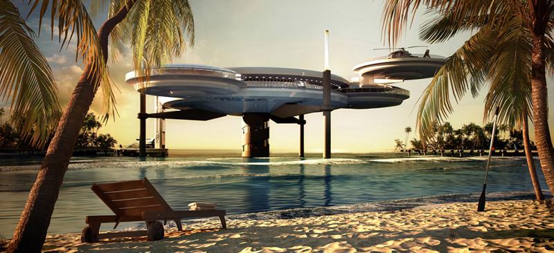 The Discus Hotel Dubai underwater hotel