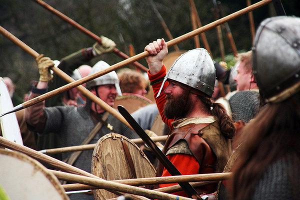 Where can you go to see a Viking festival?