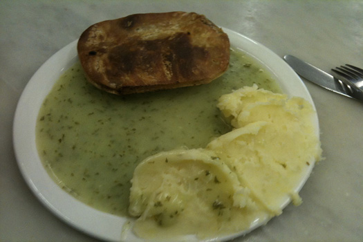2. Experience some real East London food at Tony Lane's Pie & Mash shop