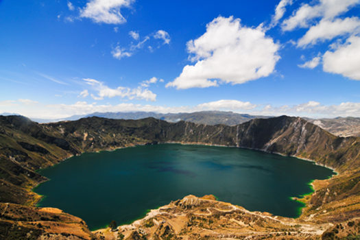 Quilotoa crater lake - Valley of the volcanoes, Ecuador