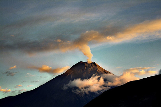 Tungurahua volcano erupting - Valley of the volcanoes, Ecuador