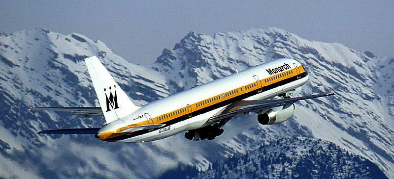 New flights for the ski season... Monarch Airlines
