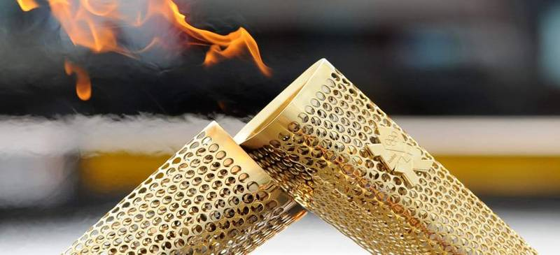 Where will the Olympic Flame be next week?