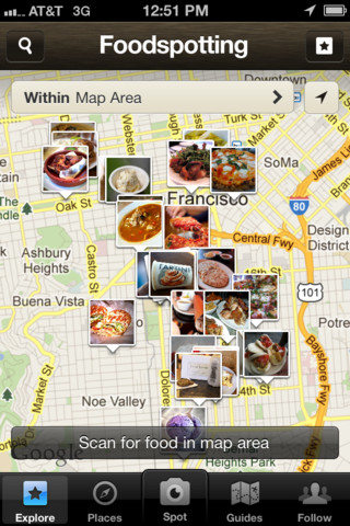 Foodspotting - 5 great iPhone travel apps