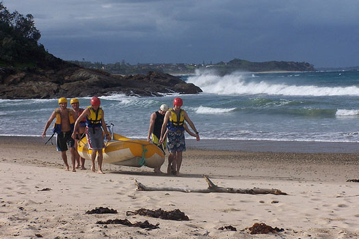 Surf rafting at Coffs Harbour