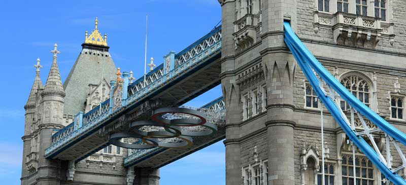 Tower Bridge Olympic Rings London 2012