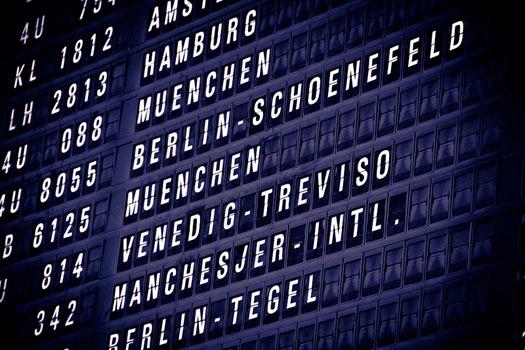 Departure Board flight times
