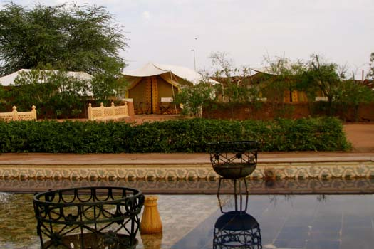 Enjoy the Rajasthan desert experience at the Osian Camel Camp in India