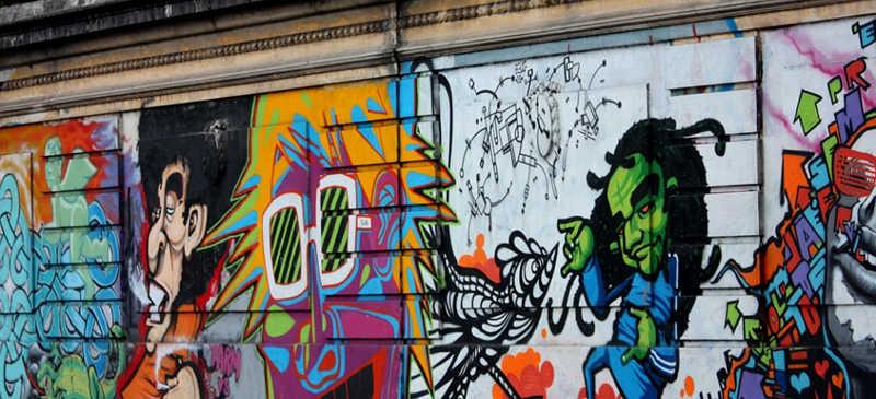 Underground cities spot street art graffiti