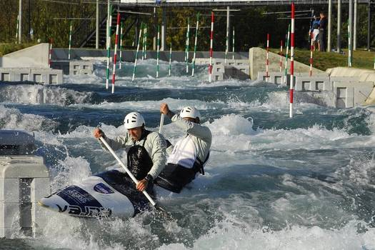 Olympic canoeing at Lee Valley