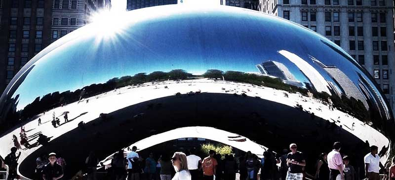 Cloud Gate, also known as The Bean, Chicago