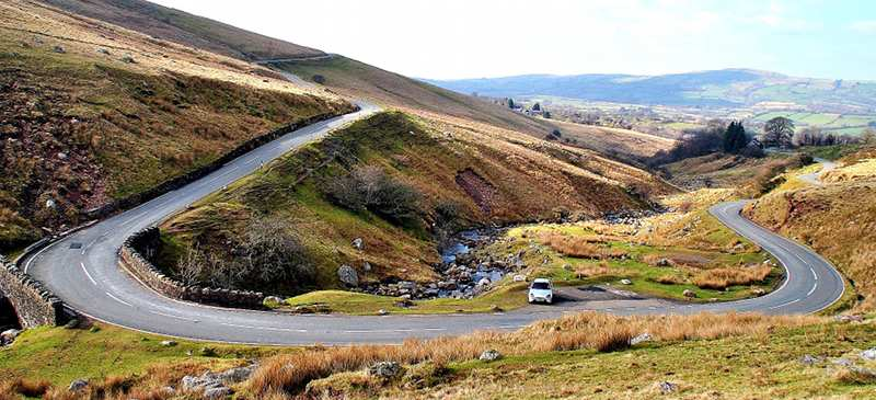 Electric cars in the Brecon Beacons