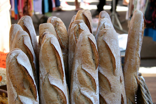 French bread, snapped in Entrecasteaux, Provence-Alpes-Côte d'Azur