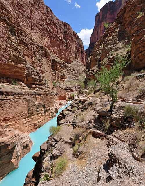 The mouth of Havasu Creek, Grand Canyon, USA