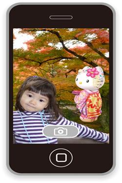Hello Kitty in Autumn