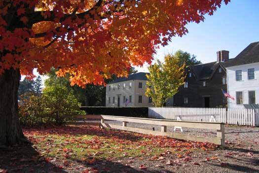 Autumn at Strawbery Banke, New Hampshire