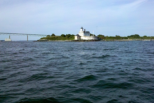 Rose Island Lighthouse, Narragansett Bay, Rhode Island, USA