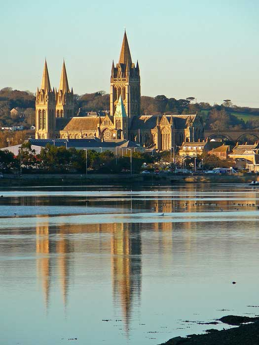 Truro Cathedral from Boscawen Park