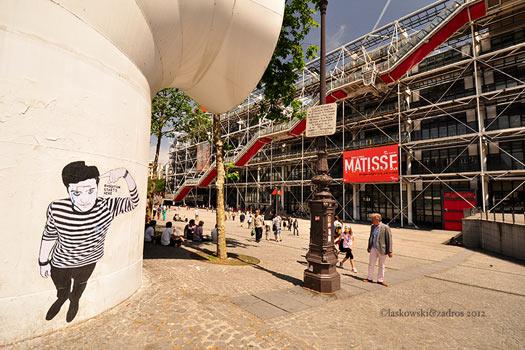 Wall art Paris - Centre Pompidou