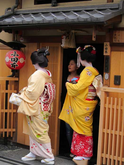 Geiko and Maiko at Gion in Kyoto, Japan