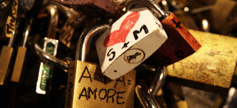 The love locks are being cut from the Ponte Milvio Bridge