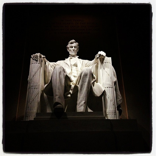 Abraham Lincoln Memorial in Northwest Rectangle, Washington DC, USA