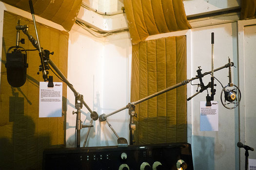 The Beatles' microphones at Abbey Road, St. Johns Wood, London, England