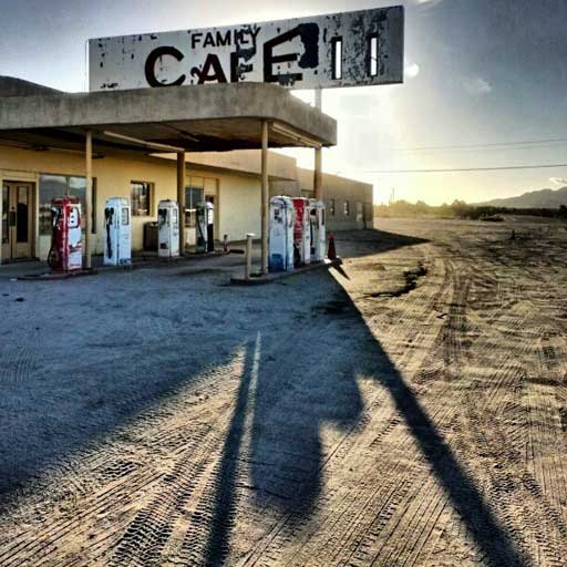 Abandoned cafe in Arizona, USA