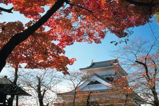 Kaminoyama Castle in Kamiyama City, Yamagata Prefecture