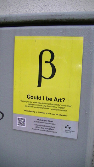 Could I be Art? At King Street and Church Street, Dublin