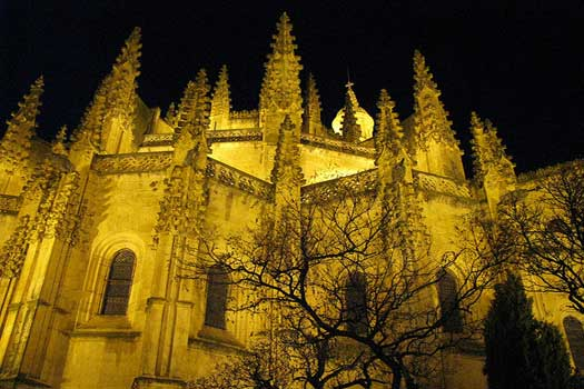 The cathedral in Segovia, Spain. Inspiration for the United Artists Building in Los Angeles