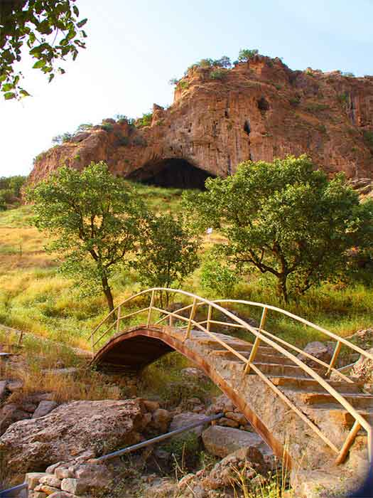 Shanidar Cave, an archaeological site in the Bradsot mountain, Zagros Mountains in Erbil Governorate, Kurdistan