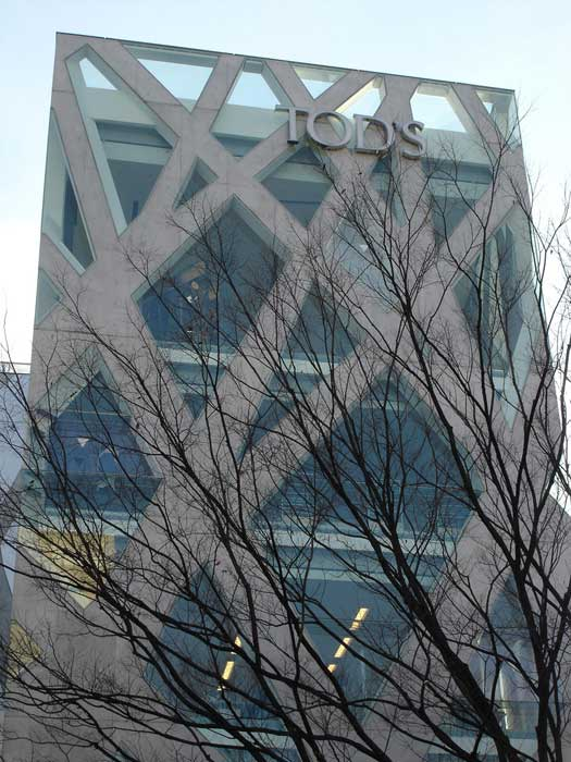 Tod's store by Toyo Ito, Omotesando, Tokyo, Japan
