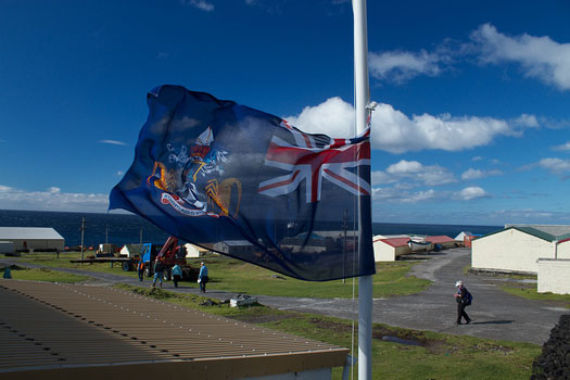 The flag of Tristan da Cunha features crayfish (rock lobsters)